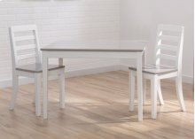 Gateway Table & 2 Chair Set - Bianca with Grey (166)