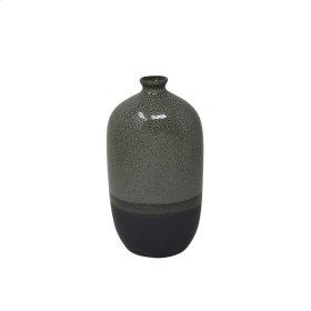 """Ceramic Vase 8.25"""", Gray"""