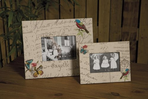 Ruthy Embroidered Fabric Photo Frames - Set of 2