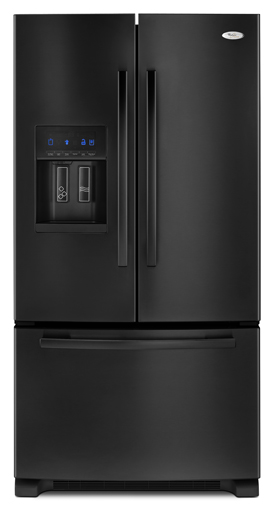 Black Whirlpool Gold® ENERGY STAR® Qualified 26 cu. ft. French Door Bottom Mount Refrigerator