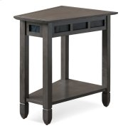 Smoke Grey Oak and Black Slate Recliner Wedge Table #10056-GR Product Image