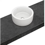 Surface-mounted washbasin (round) Round - White Alpin