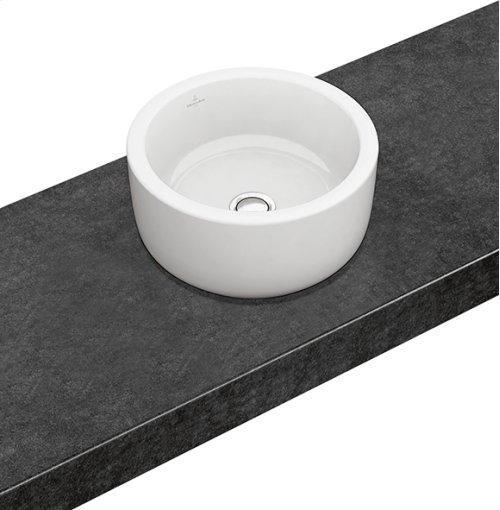 Surface-mounted washbasin (round) Round - White Alpin