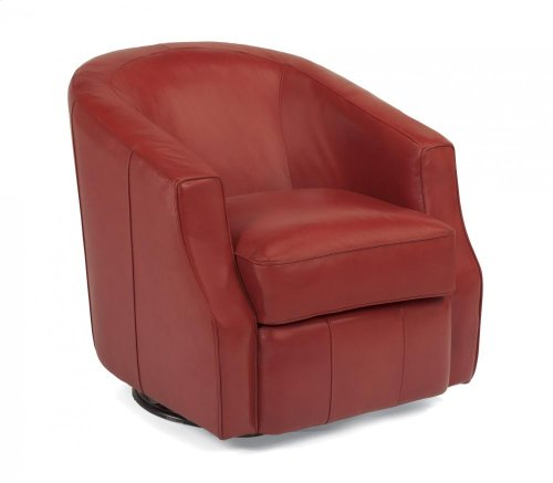 Moonwalk Leather Swivel Glider