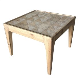 Adagio Checkered Square End Table, Natural