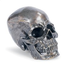 Metal Skull In Antique Bronze