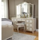Reece Upholstered Vanity Stool in Champagne Beige Product Image