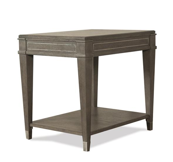 Dara II Rectangular Side Table Gray Wash Finish