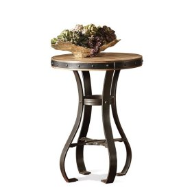 Sherborne Round Accessory Table Toasted Pecan finish