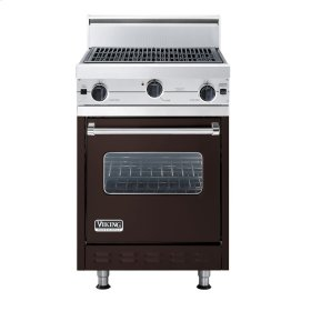 """Chocolate 24"""" Char-Grill Companion Range - VGIC (24"""" wide range with char-grill, single oven)"""