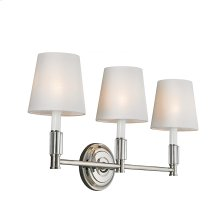 3 - Light Lismore Vanity Strip