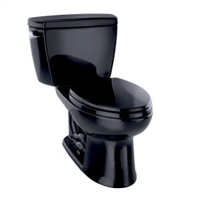 Drake® Two-Piece Toilet, 1.6 GPF, ADA Compliant, Elongated Bowl - Ebony