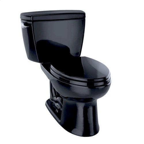 Eco Drake® Two-Piece Toilet, 1.28 GPF, ADA Compliant, Elongated Bowl - Ebony