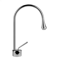 "Single lever washbasin mixer without pop-up assembly Spout projection 6-13/16"" Height 12-3/16"" Drain not included - See DRAINS section Max flow rate 1"
