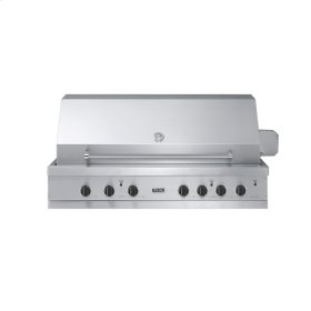 """Stainless Steel 53"""" Ultra-Premium E-Series Grill with TruSear - VGIQ (53"""" wide with three standard 29,000 BTU stainless steel burners, one 30,000 BTU TruSear infrared burner (LP/Propane))"""