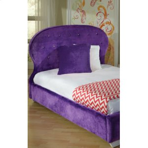 Purple Headboard/footboard, W/pillows, 3/3