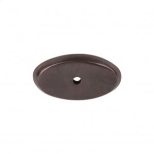 Aspen Oval Backplate 1 3/4 Inch - Medium Bronze