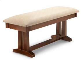 """Brooklyn 48"""" Pedestal Bench in Leather"""