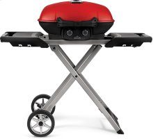 TravelQ 285X with Scissor Cart and Griddle Red , Propane