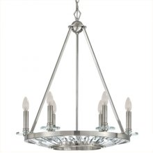 Cascade Collection Six-Light Incandescent Chandeli