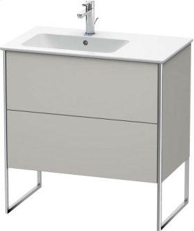 Vanity Unit Floorstanding, Concrete Grey Matt Decor
