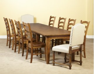 Rectangular Dining Table   10 Chairs