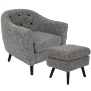 Rockwell Chair with Ottoman - Dark Grey Noise Product Image