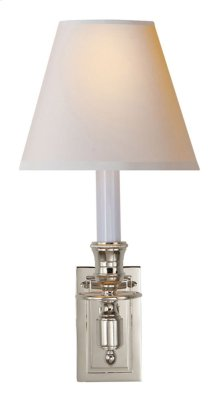 Visual Comfort S2210PN-NP Studio French 1 Light 6 inch Polished Nickel Decorative Wall Light in Natural Paper