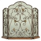 Scrolled Iron 3-Panel Fireplace Screen Product Image
