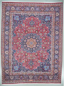 """PERSIAN 000033088 IN RED NAVY 10'-9"""" x 14'-4"""""""