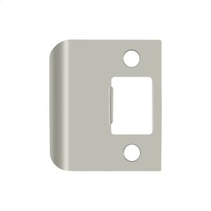 """Extended Lip Strike Plate, 2"""" Overall - Brushed Nickel"""