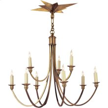 Visual Comfort SC5002HAB Eric Cohler Venetian 9 Light 26 inch Hand-Rubbed Antique Brass Chandelier Ceiling Light