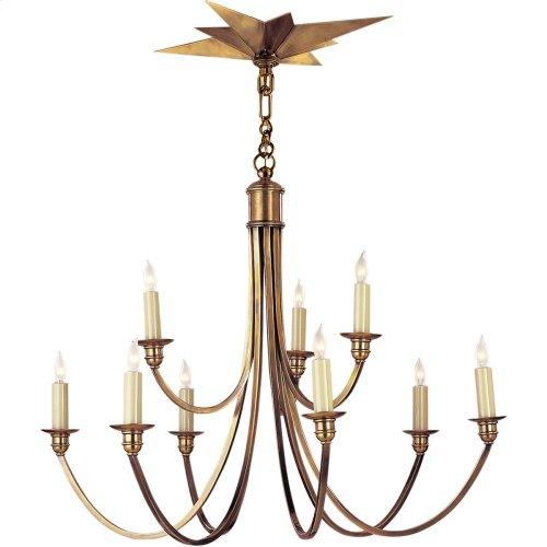 Visual Comfort SC5002HAB Eric Cohler Venetian 9 Light 26 inch Hand-Rubbed Antique Brass Chandelier Ceiling Light