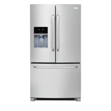 Frigidaire 27.2 Cu. Ft. French Door Refrigerator (This is a Stock Photo, actual unit (s) appearance may contain cosmetic blemishes. Please call store if you would like actual pictures). This unit carries our 6 month warranty, MANUFACTURER WARRANTY and REBATE NOT VALID with this item. ISI 32765