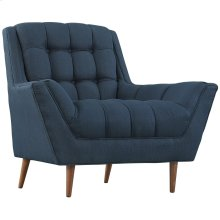 Response Upholstered Fabric Armchair in Azure