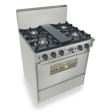 """30"""" Dual Fuel, Convect, Self Clean, Open Burners, Stainless Steel"""