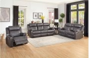 Double Lay Flat Reclining Sofa with Center Drop-Down Cup Holders Product Image