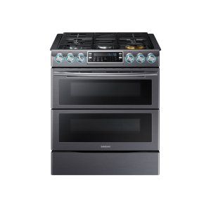 SAMSUNG5.8 cu. ft. Slide-In Gas Flex Duo Range with Dual Door
