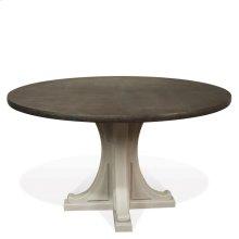 Juniper - Round Pedestal Dining Table Base - Chalk Finish