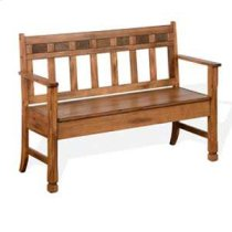 Sedona Bench w/ Storage & Wood Seat Product Image