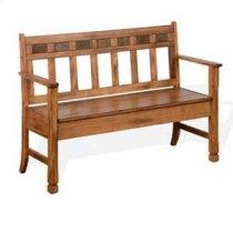 Sedona Bench w/ Storage & Wood Seat Product Image