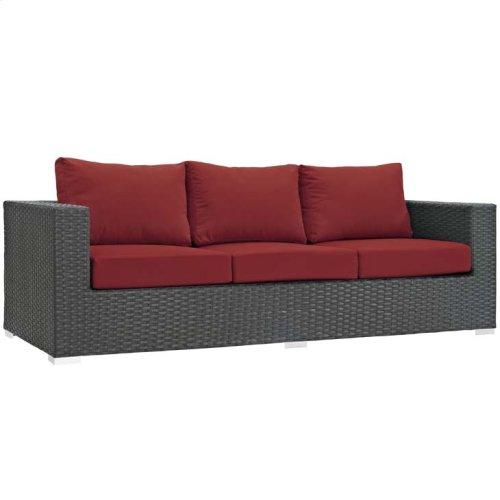 Sojourn Outdoor Patio Sunbrella® Sofa in Canvas Red