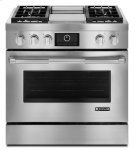 """Jenn-Air® Pro-Style® 36"""" Dual-Fuel Range with Griddle and MultiMode® Convection - Pro Style Stainless Product Image"""