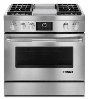 """Jenn-Air® Pro-Style® 36"""" Dual-Fuel Range with Griddle and MultiMode® Convection - Pro Style Stainless"""