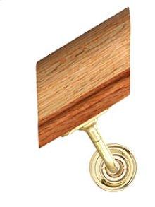 Handrail Bracket w/Small Traditional Rose