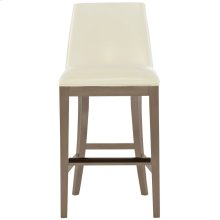 Bailey Leather Counter Stool in Smoke