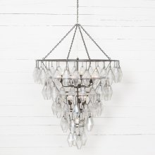 Antiqued Iron Finish Adeline Large Round Chandelier