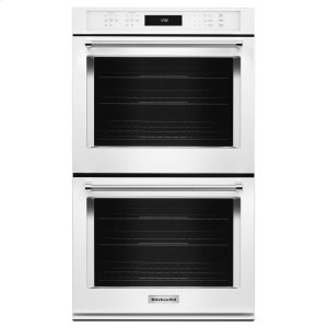 "Kitchenaid27"" Double Wall Oven with Even-Heat True Convection - White"