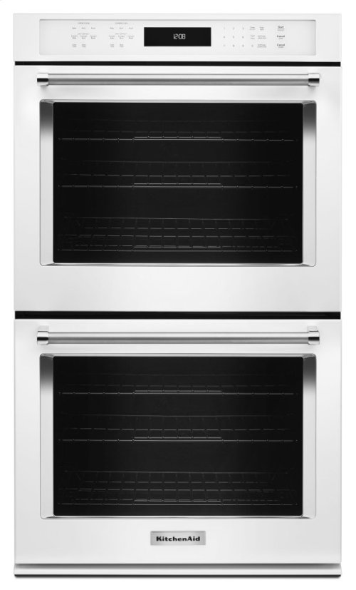 """27"""" Double Wall Oven with Even-Heat True Convection - White"""