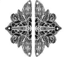 Cicada on Leaves - Brite Nickel